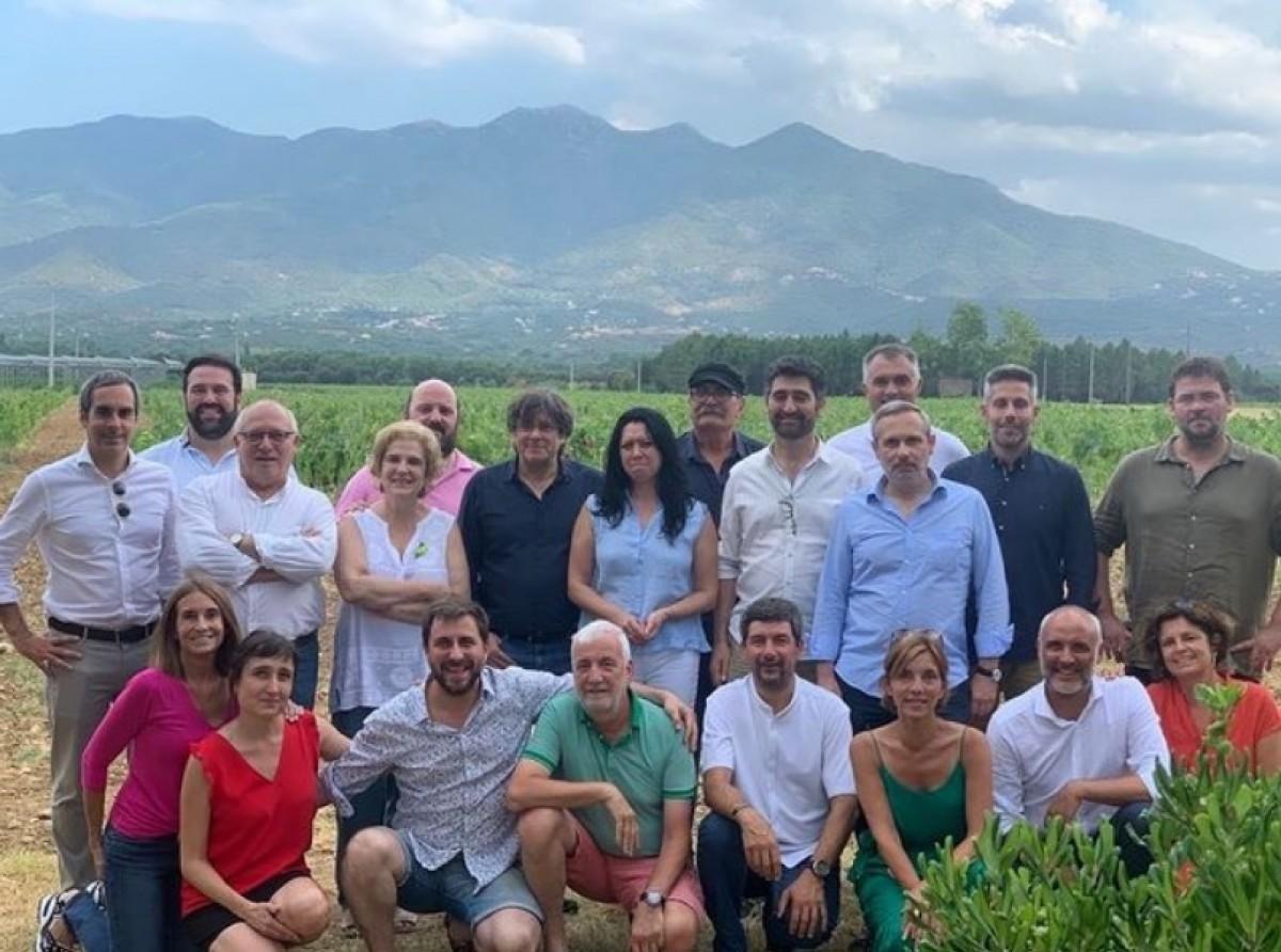La trobada de Rahola amb Puigneró i altres dirigents de Junts i amics