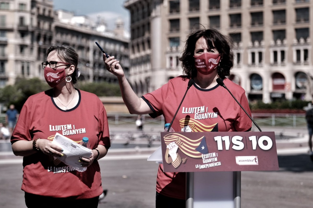 Roda de premsa de l'ANC a Plaça Catalunya