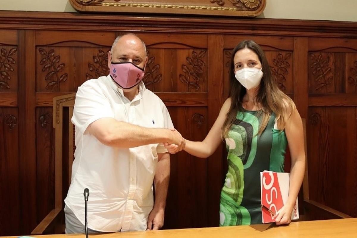 Francesc Colomé i Marta Reche han segellat l'acord