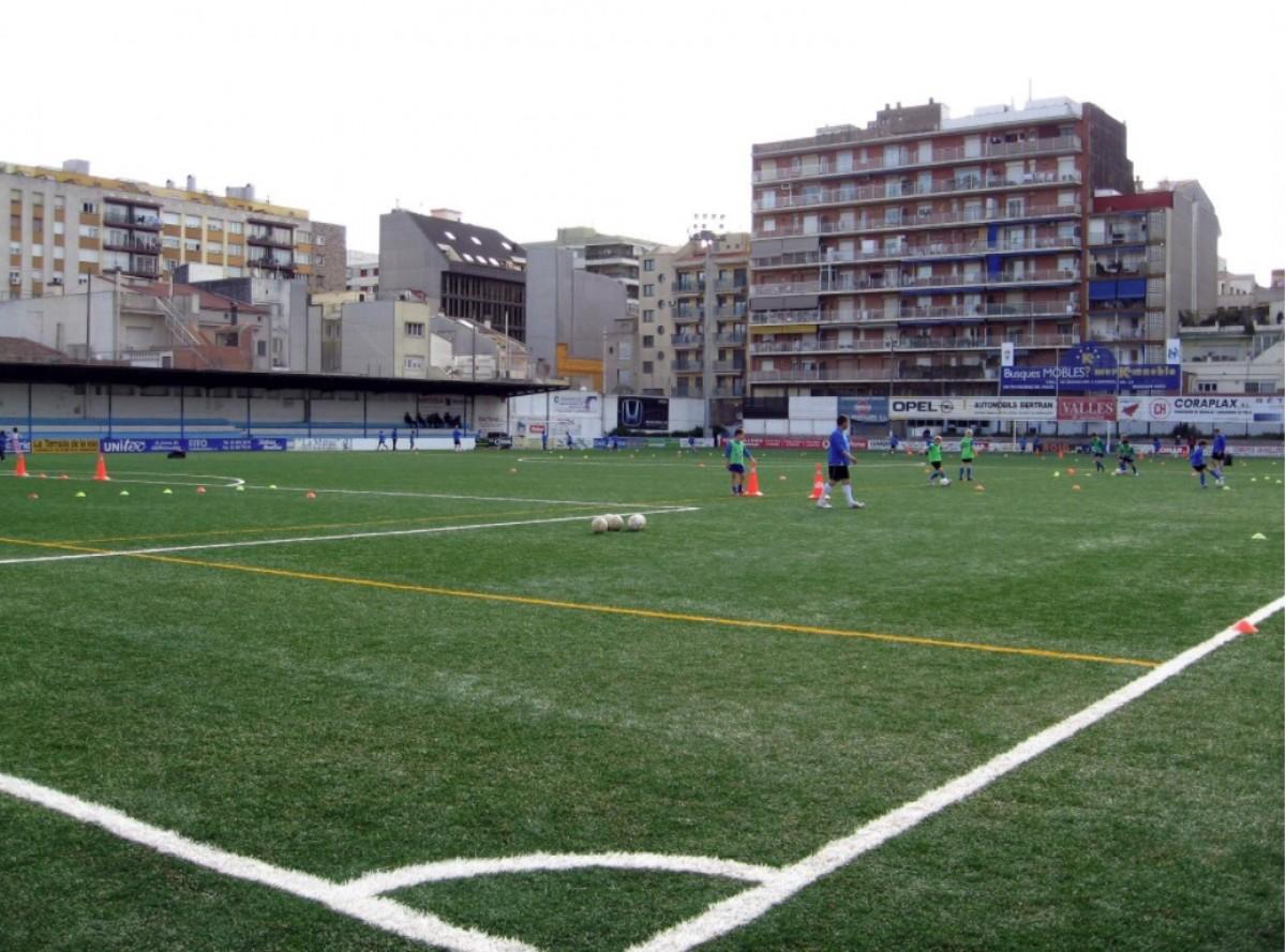 El camp de futbol del carrer Girona