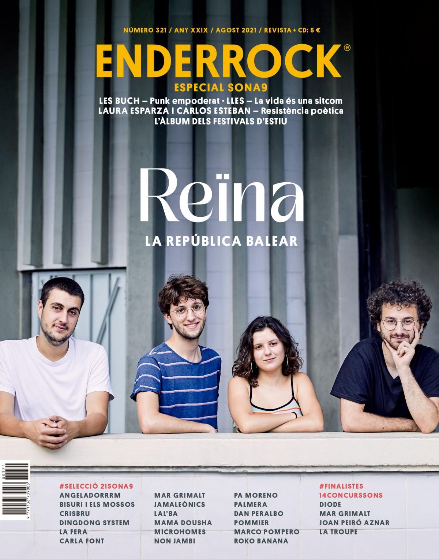 Reïna a la portada del número 321 d'Enderrock