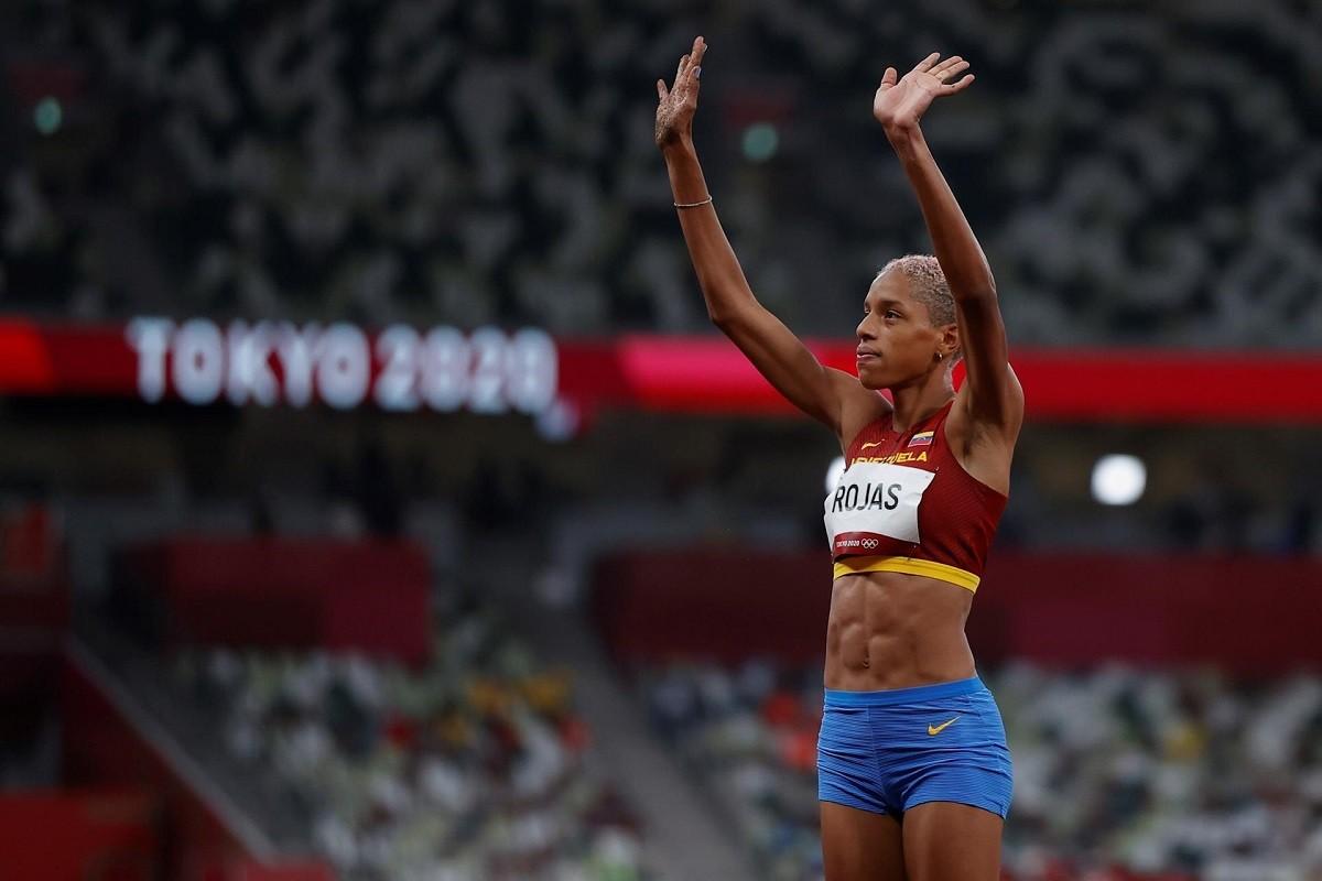 Yulimar Rojas a l'Estadi Olímpic de Tòquio.