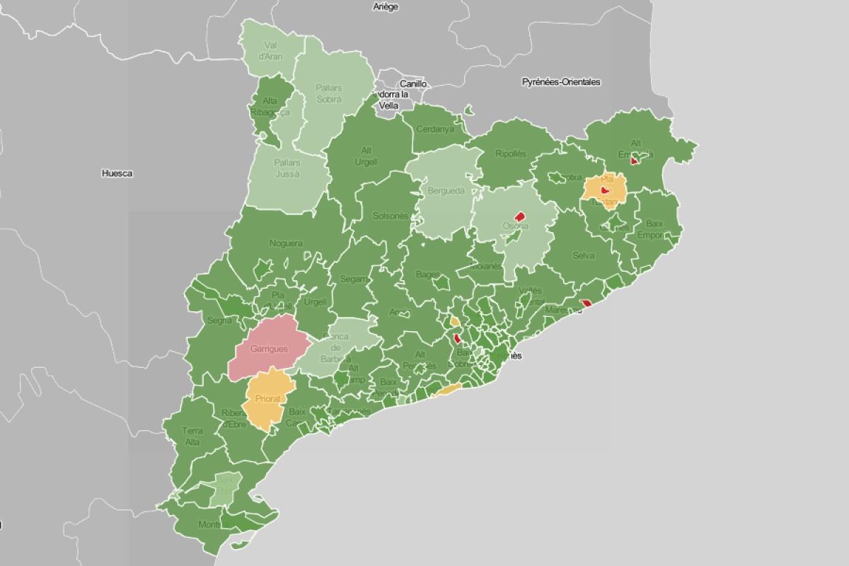 Mapa dels contagis