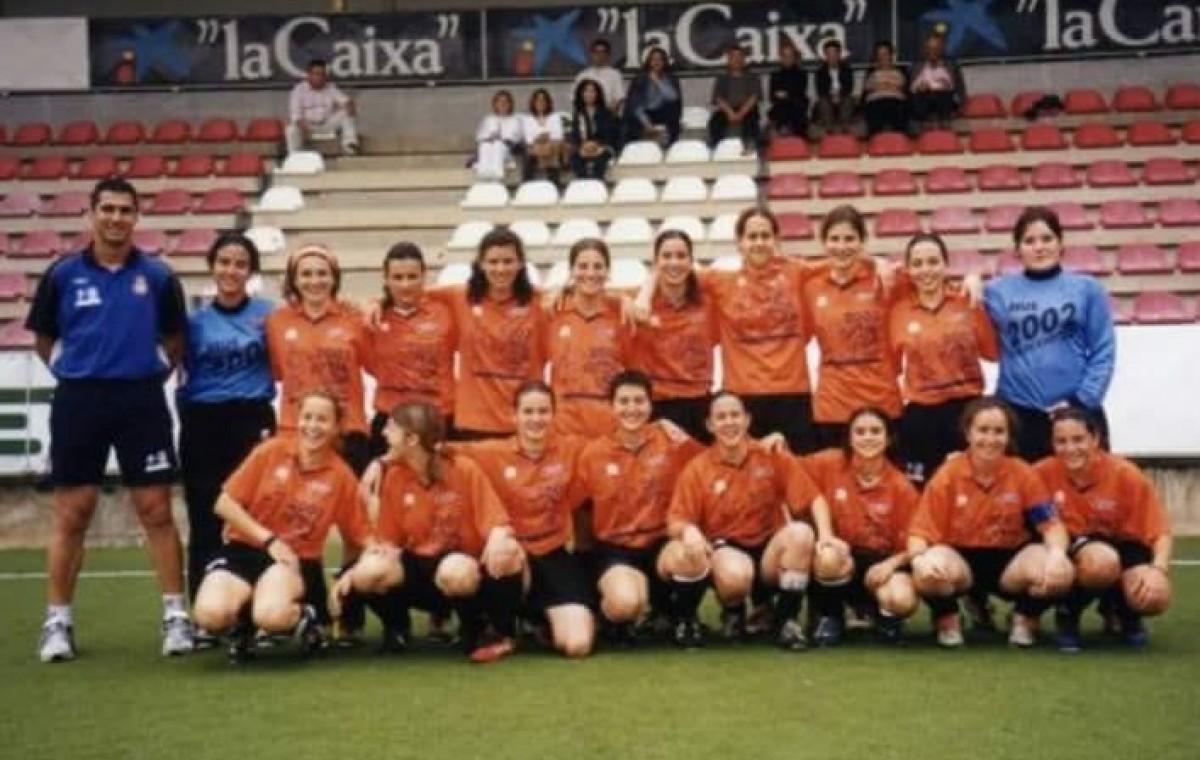 Un dels equips del futbol femení del CF Reus