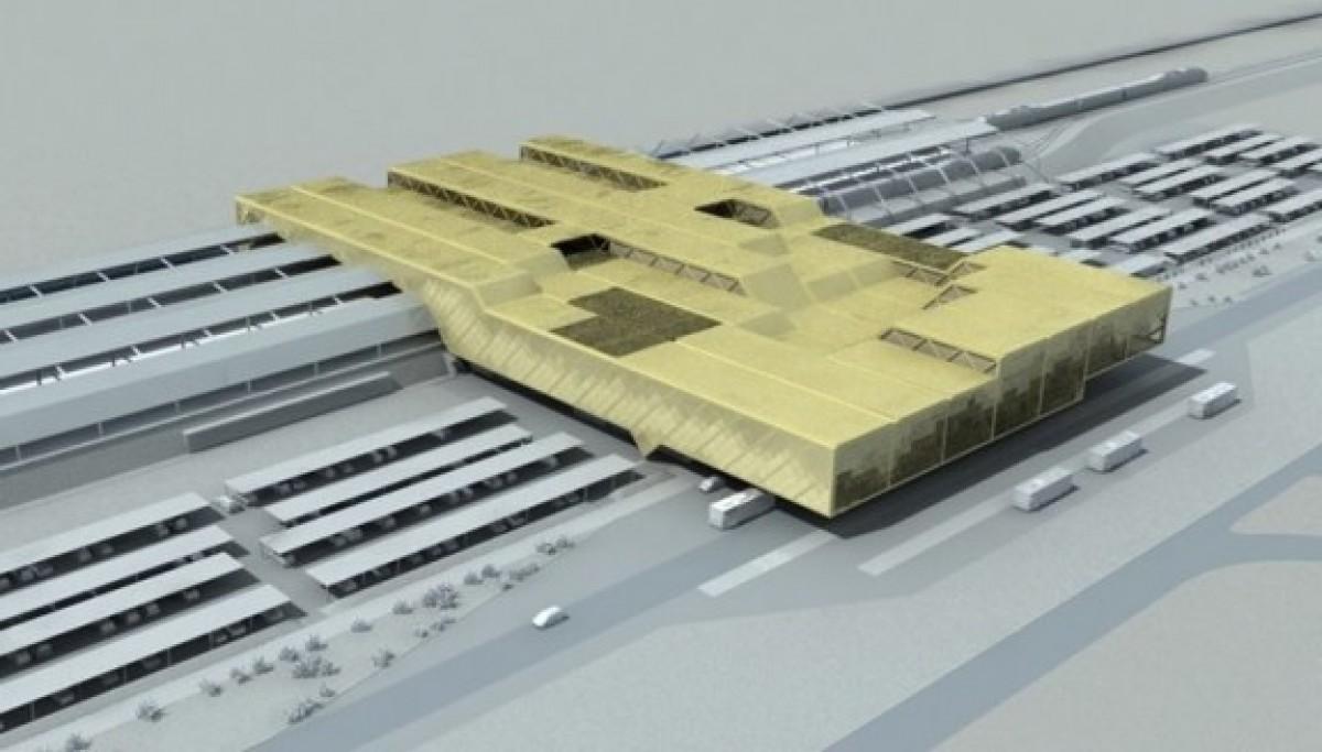 Imatge virtual de l'estació intermodal