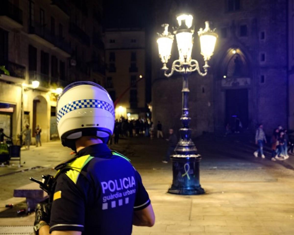 Un agent de la Guàrdia Urbana de Barcelona