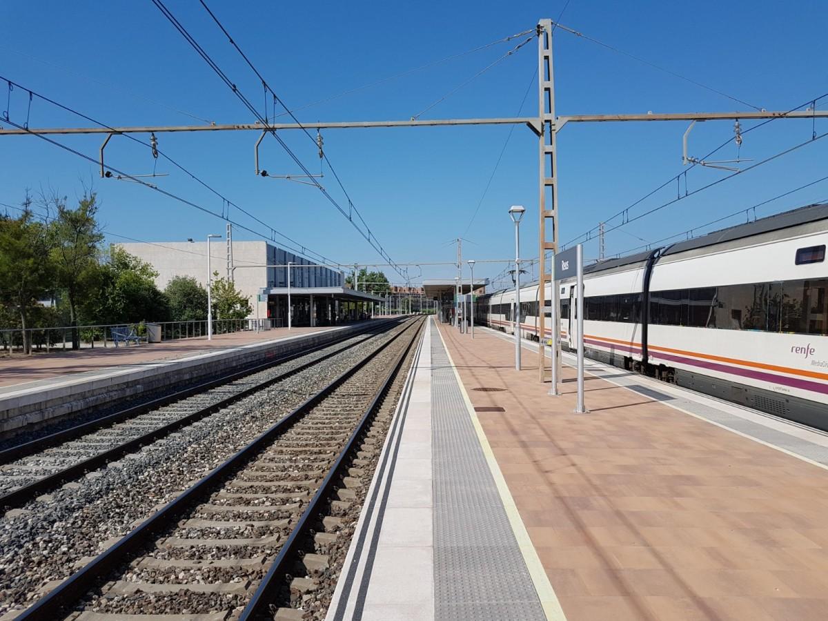 Imatge de les andanes de l'estació de Reus