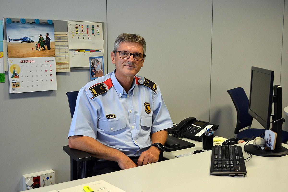 El cap de l'ABP del Bages dels Mossos d'Esquadra, Enric Gerónimo