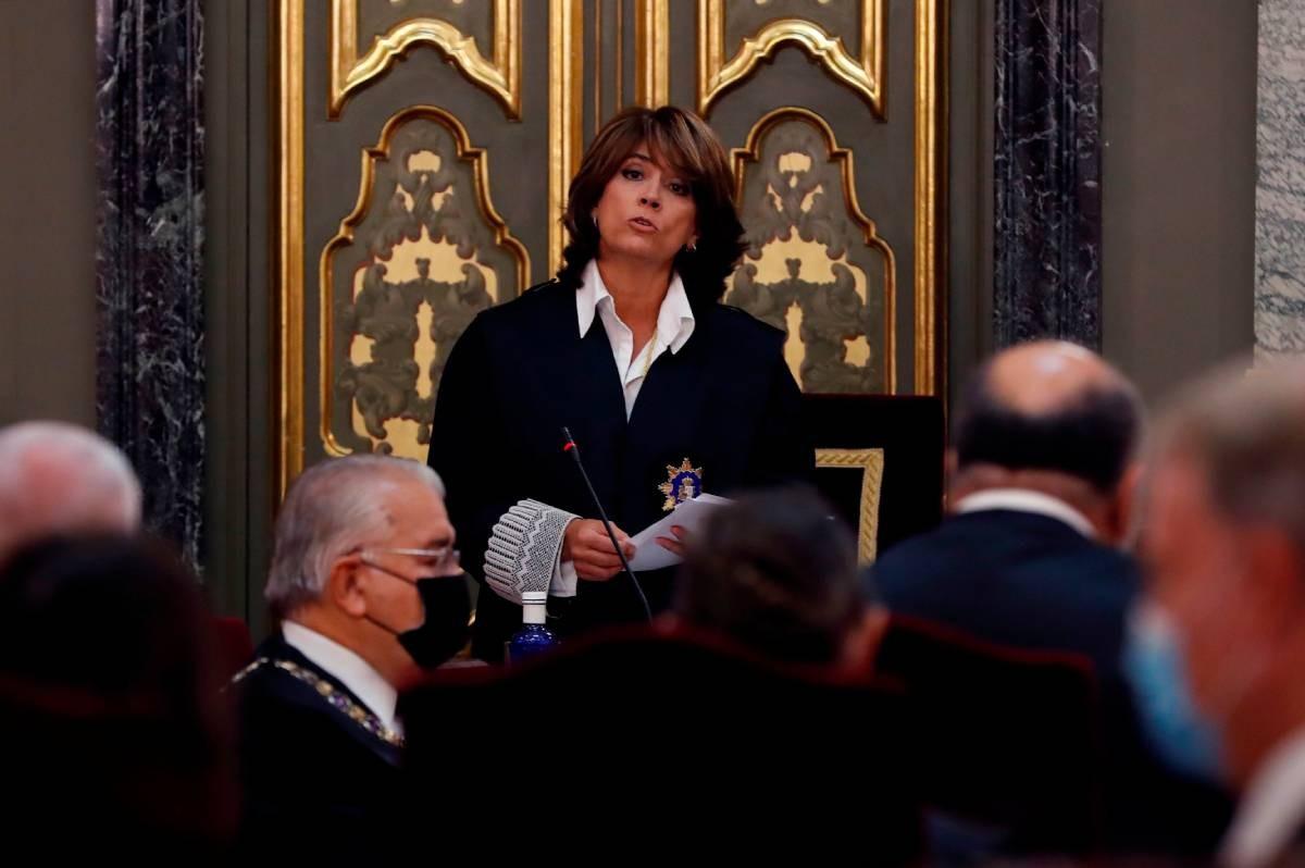 La Fiscal General de l'Estat, Dolores Delgado, en una imatge d'arxiu.