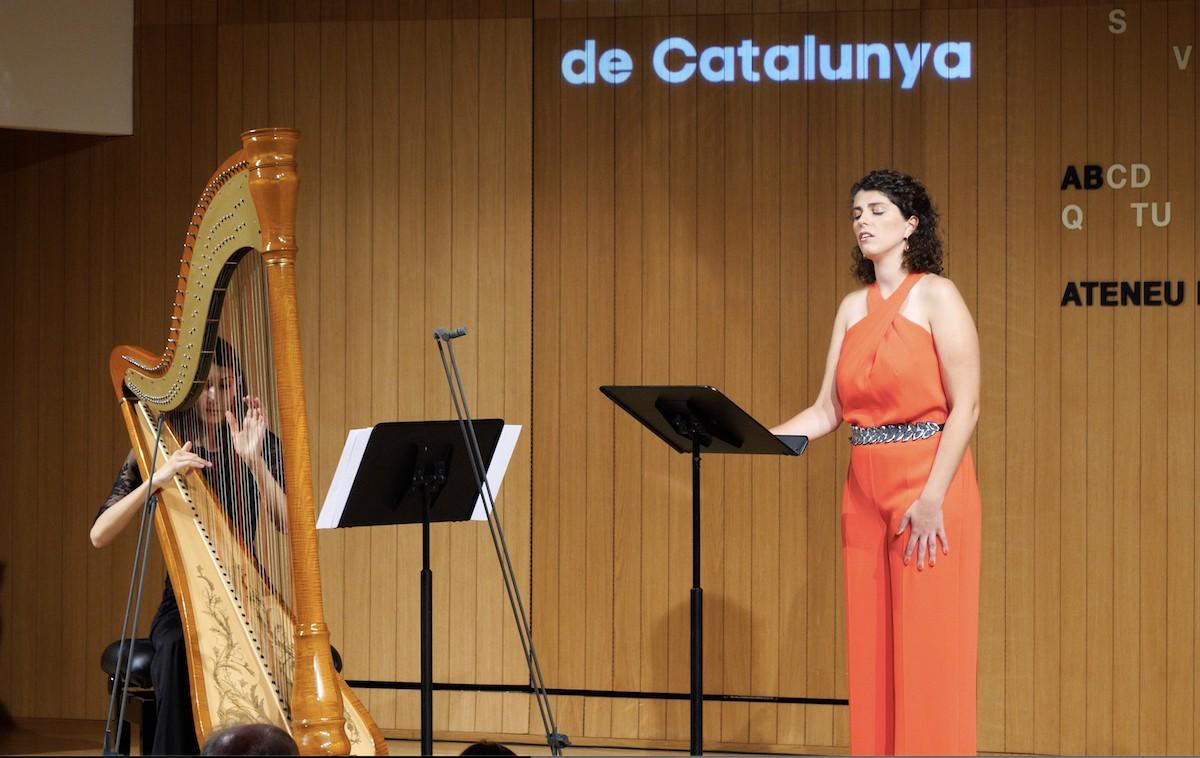 Mireia Tarragó i Esther Pinyol a L'Ateneu Barcelonès