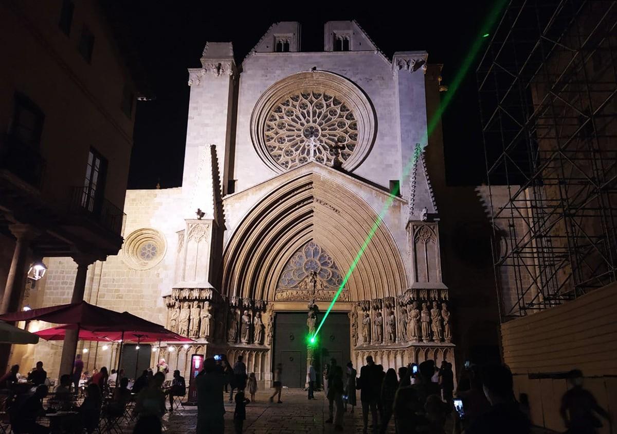 La Catedral, durant l'acció d'Antoni Arola.