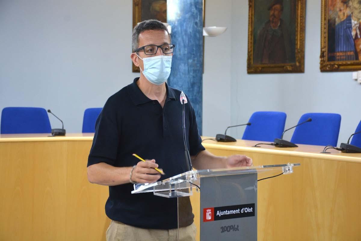 Estanis Vayreda ha anunciat l'allargament de la campanya Olot+50 fins al desembre.