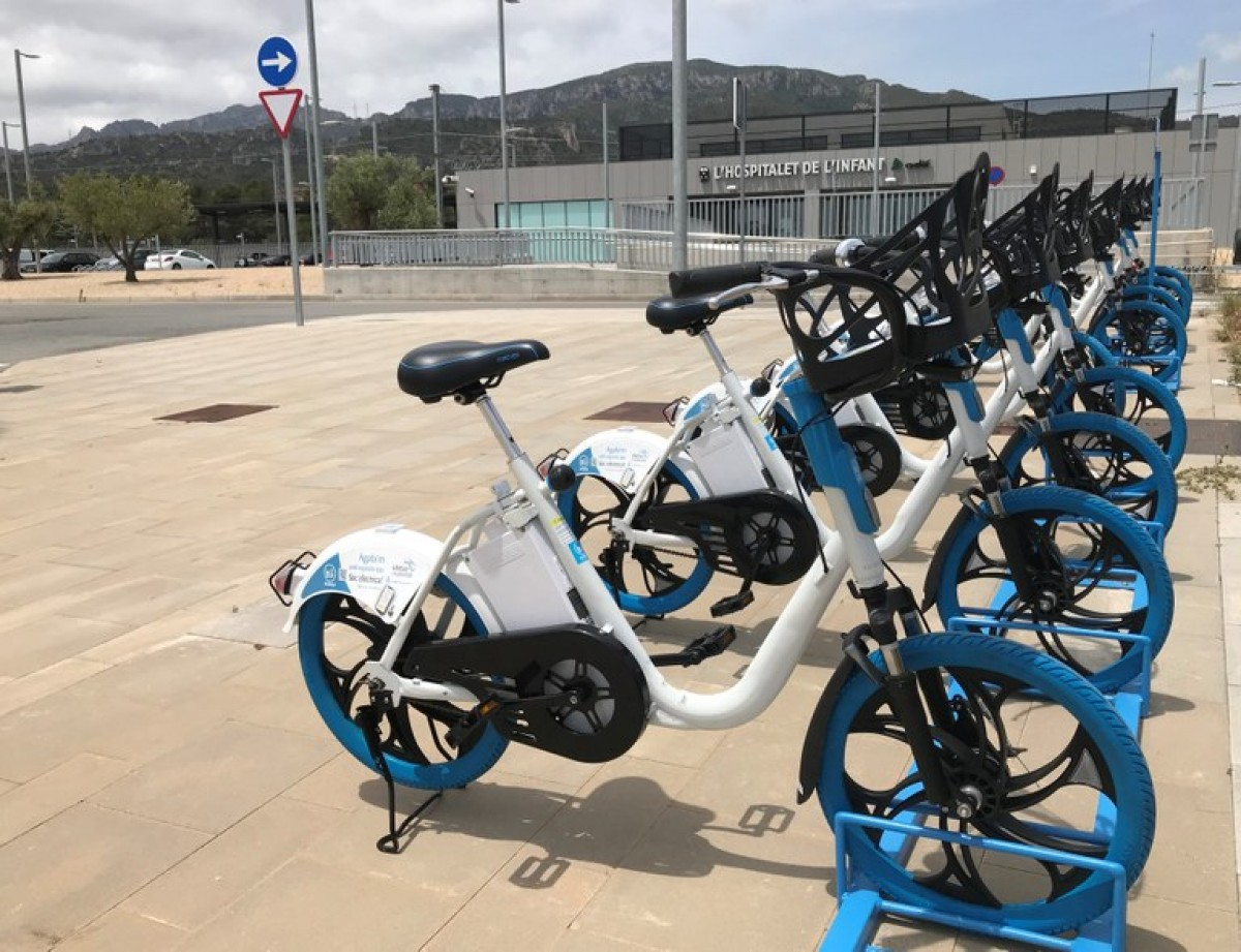 Una imatge de les biciletes