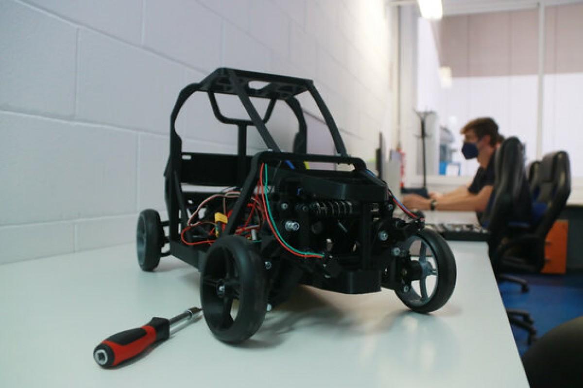 El prototip en escala 1:5 del vehicle Virante AT impulsat amb hidrogen