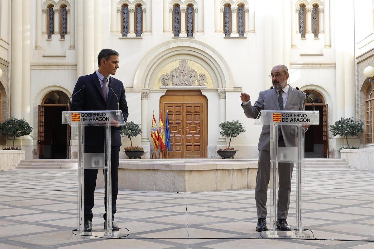 Sánchez i Lambán, durant la trobada mantinguda aquest dijous