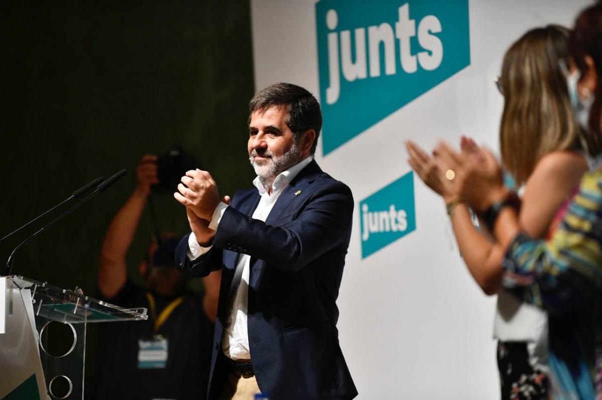 Jordi Sànchez, durant el consell nacional de Junts.