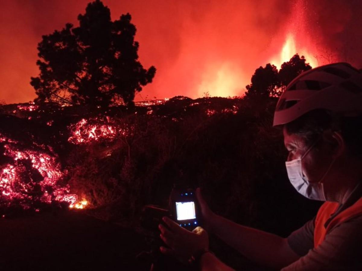 La temperatura de la lava és de 1.100ºC