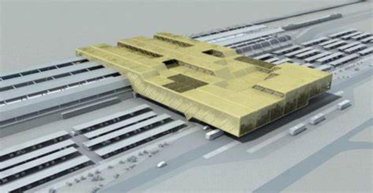 Una imatge virtual del primer projecte de l'estació intermodal de Reus