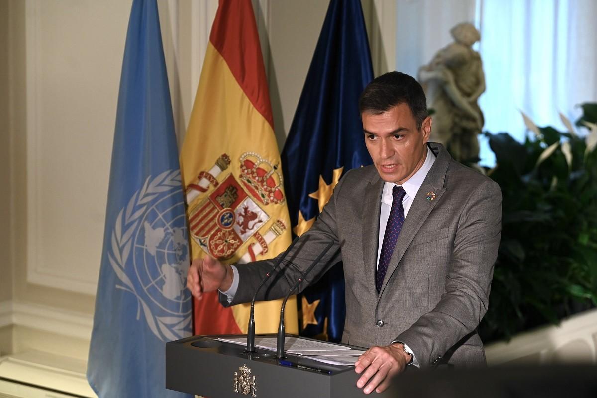 El president del govern espanyol, Pedro Sánchez, aquest dimecres a Nova York