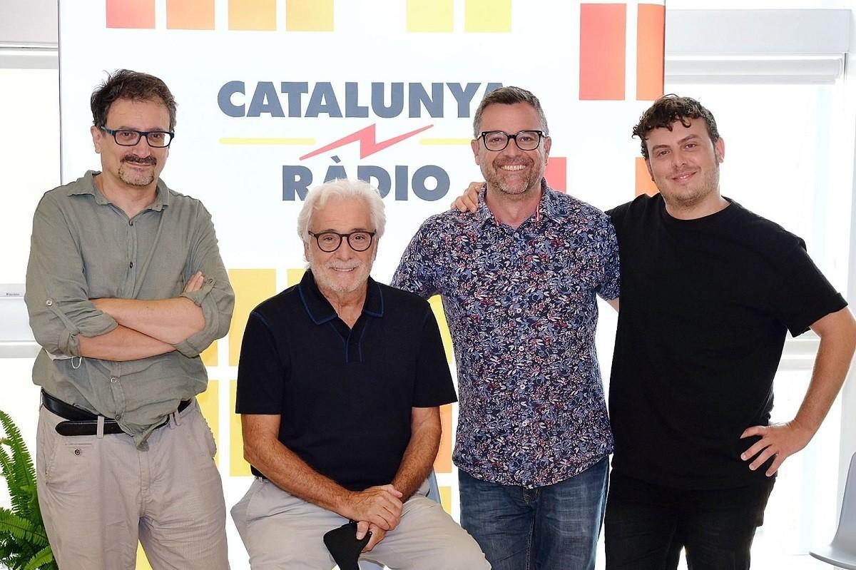 L'escriptor Albert Sánchez-Pinyol, els actors Lluís Marco i Artur Busquets i el director Santi Faro