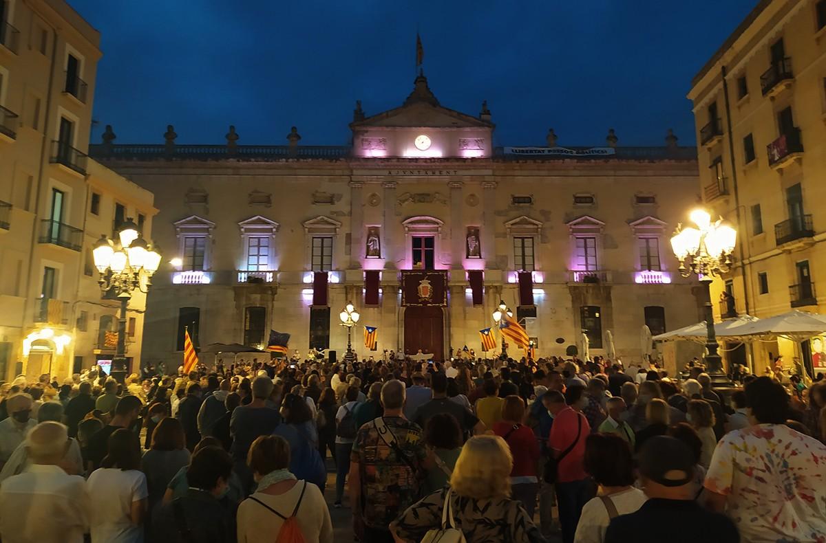 La plaça de la Font, aquest divendres al vespre.