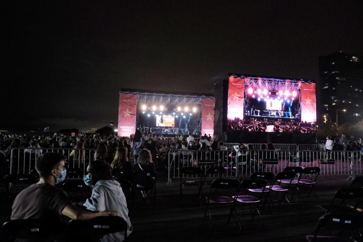 Concerts de la Mercè a l'escenari Estrella Damm al Fòrum