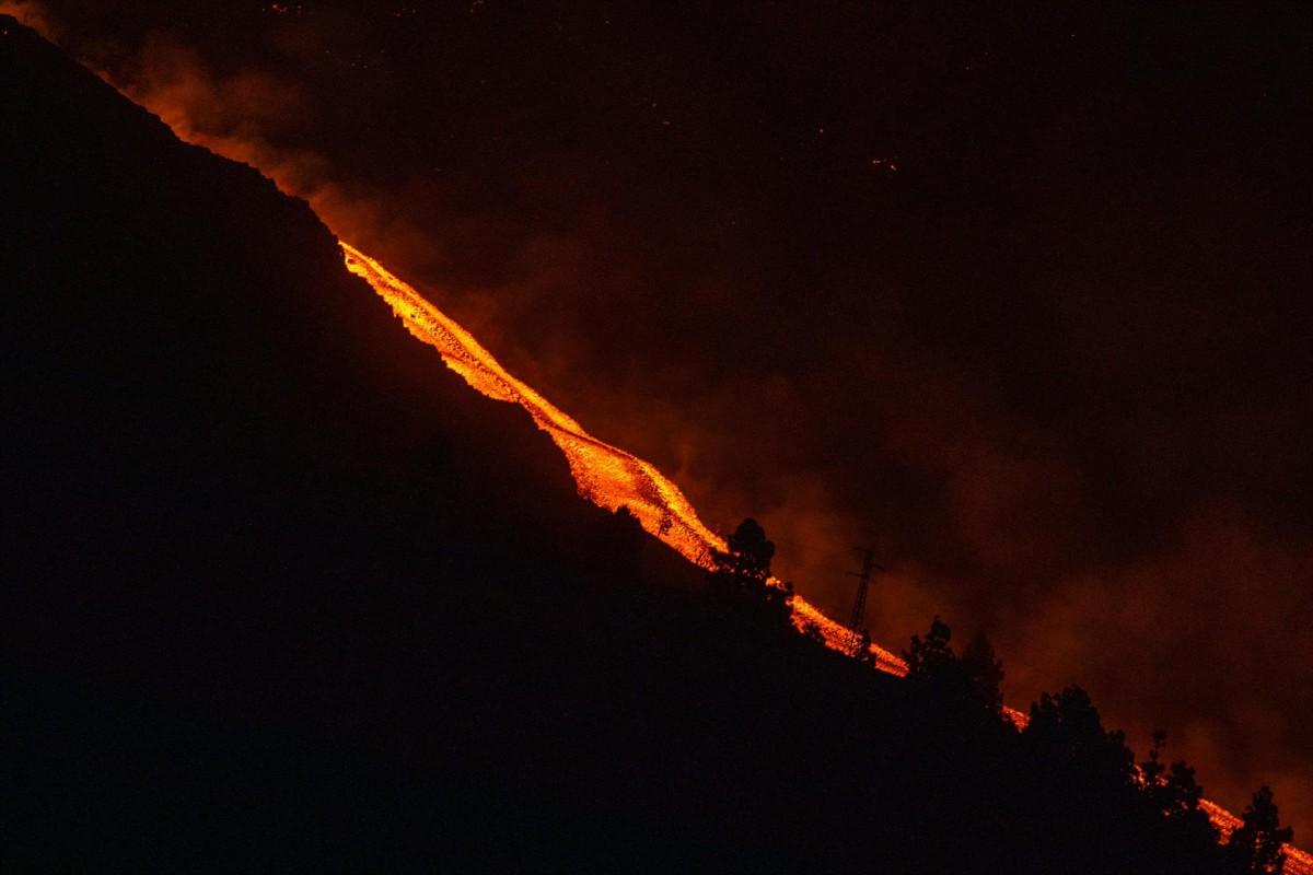 Imatge del nou riu de lava