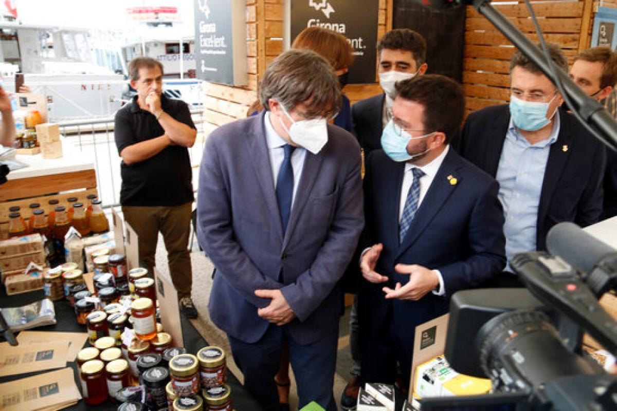 Carles Puigdemont i Pere Aragonès, aquest cap de setmana a l'Alguer.
