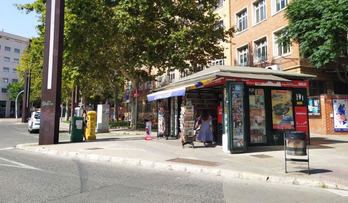 El quiosc de la plaça Imperial Tàrraco.