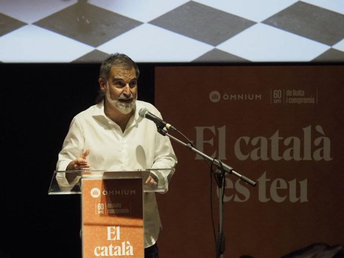 Jordi Cuixart, en l'acte d'aquest dimarts de presentació de l'estratègia d'Òmnium per reforçar el català