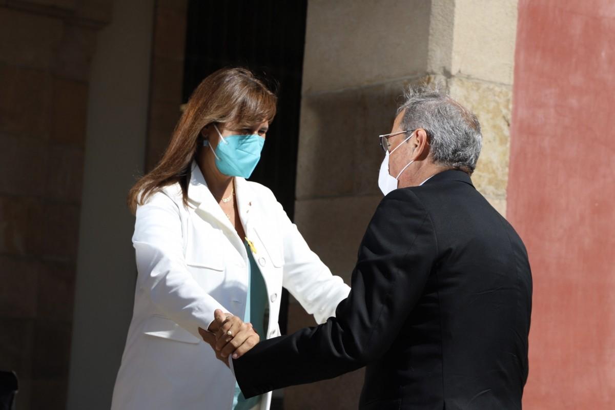 Quim Torra i Laura Borràs, aquest dimarts al Parlament