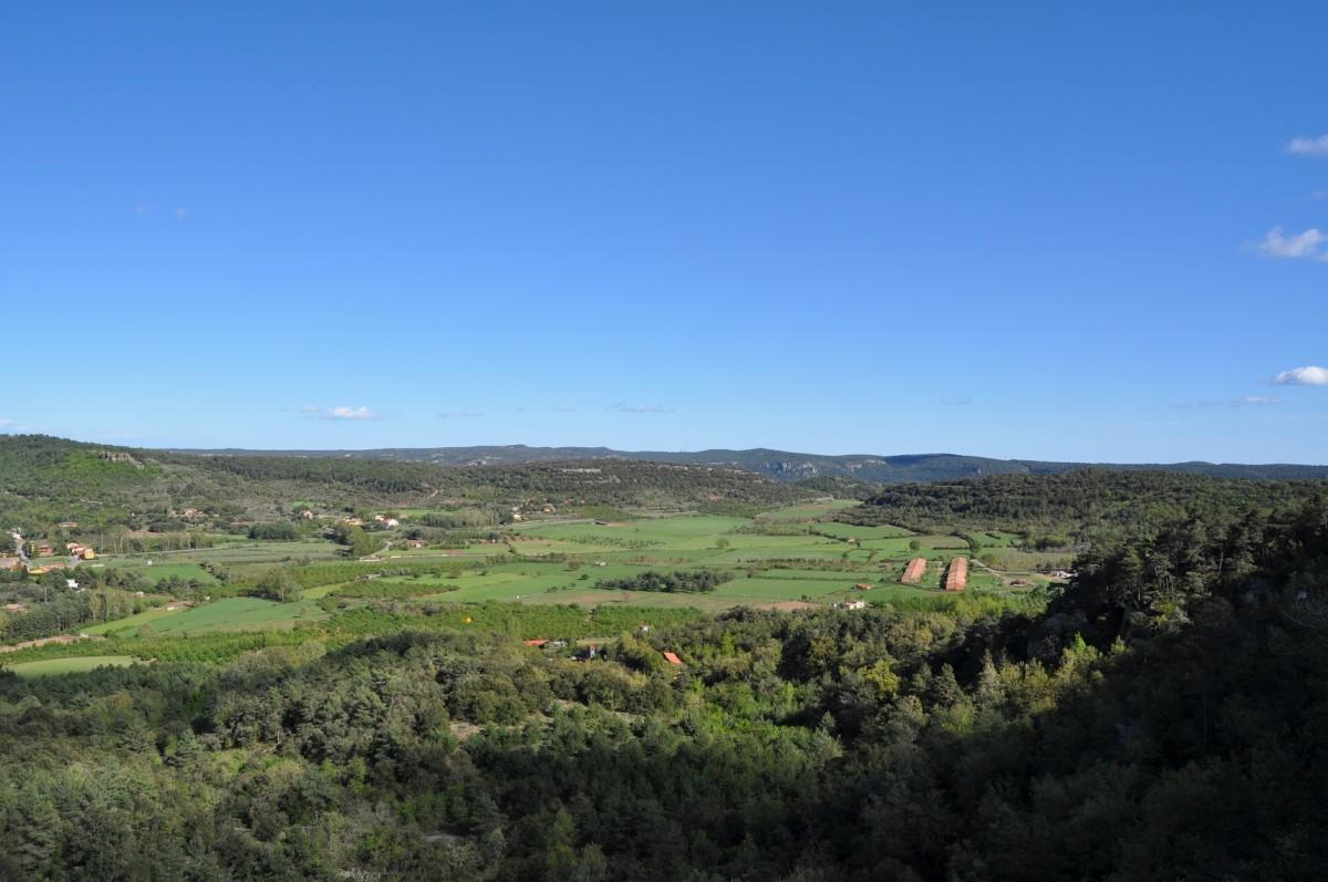 Una vista d'un paisatge de les Muntanyes de Prades