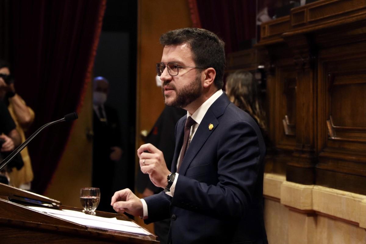 Pere Aragonès, en la primera jornada del debat de política general.