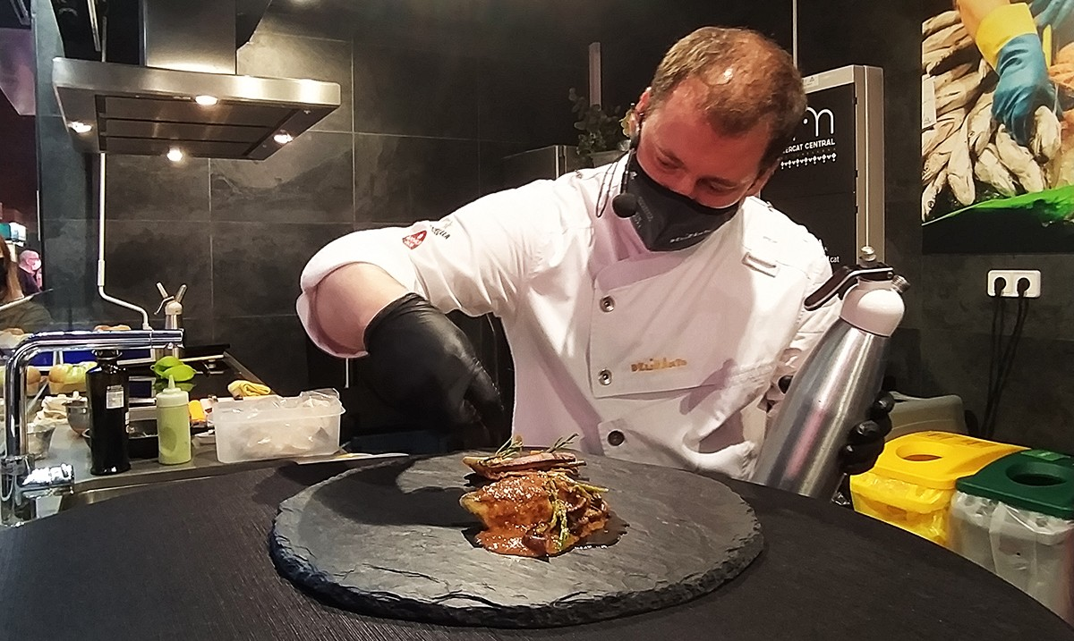 Pep Moreno, xef amb Estrella Michelin del Restaurant Deliranto de Salou.