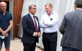 Koeman revela una tensa conversa amb Laporta a l'estiu
