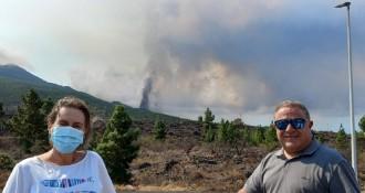 El volcà a La Palma sorprèn una parella de catalans: «Tot va tremolar»