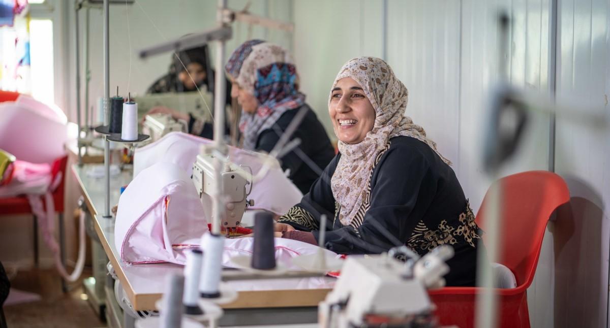 Refugiades sirianes al camp humanitari de Za'atari, a Jordània.