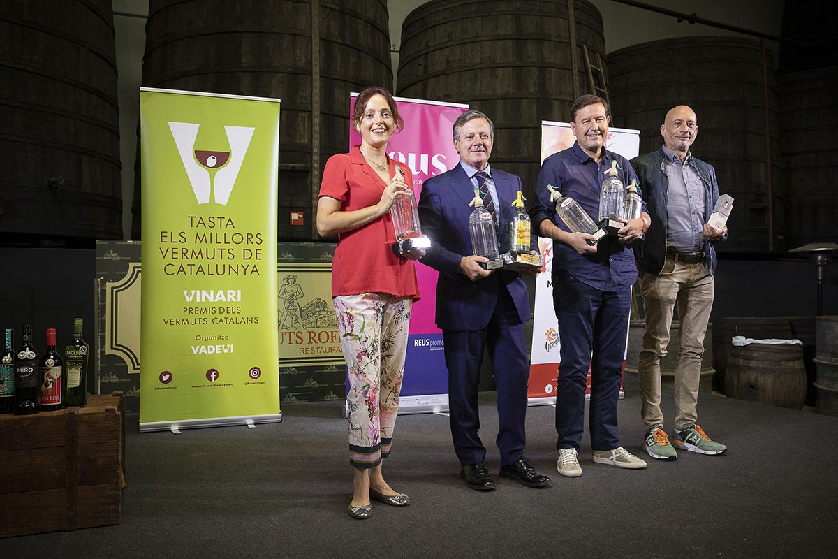 Els guanyadors dels premis Vinari de vermuts catalans.