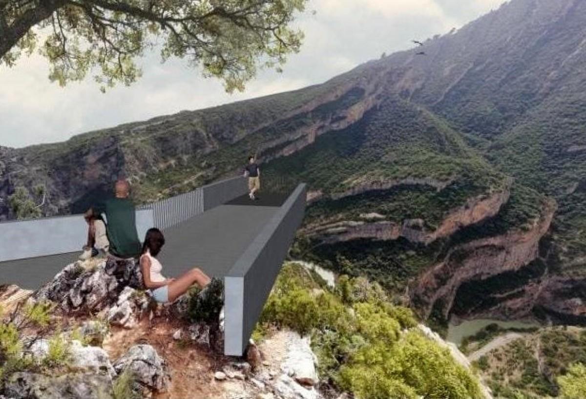 Imatge simulada del mirador de Roca Regina
