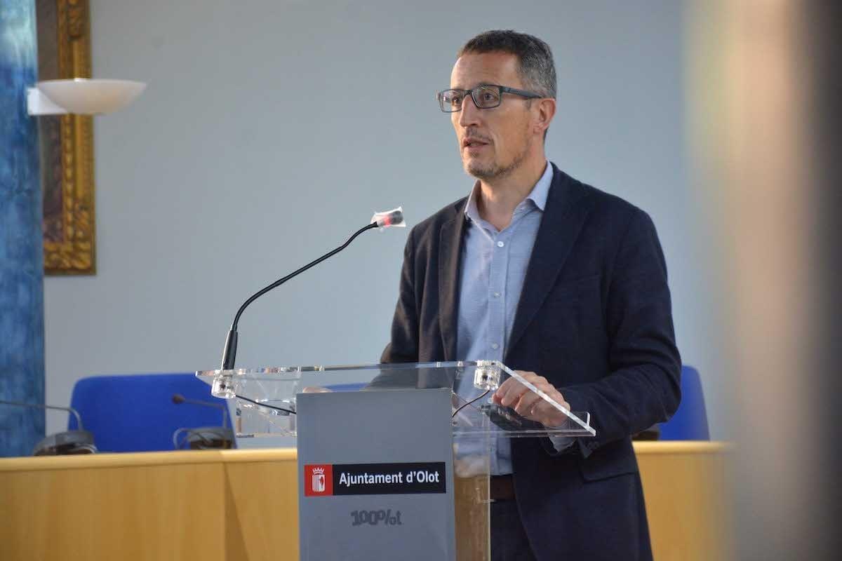 El regidor Estanis Vayreda ha presentt les actuacions d'ajuda demanades a la Unió Europea.