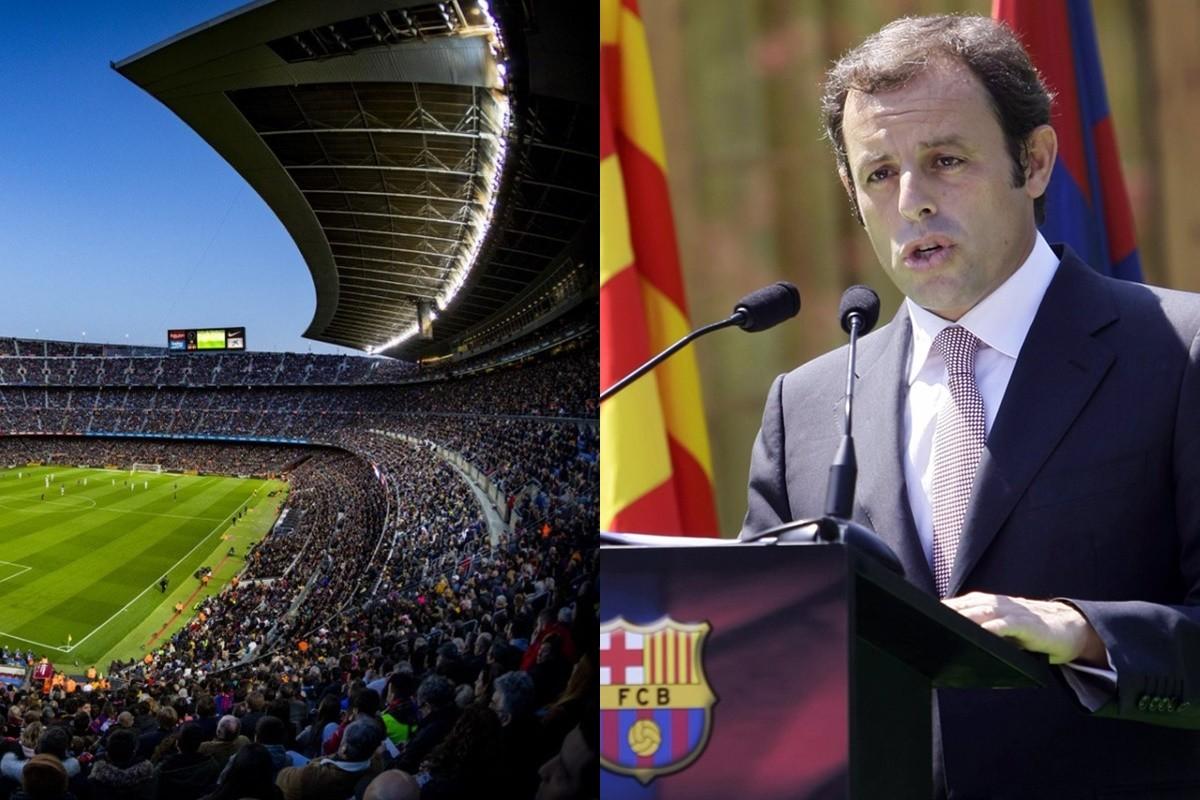 Sandro Rosell, quan era president del Barça