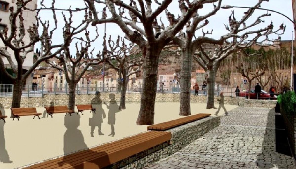 Així serà la nova plaça de Sant Domènec de Balaguer
