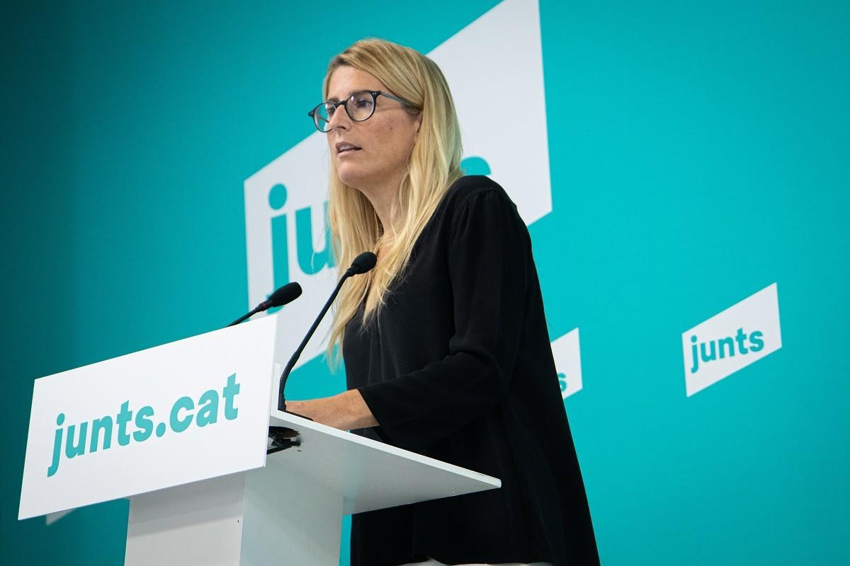 Elsa Artadi, portaveu de Junts, aquest dilluns.