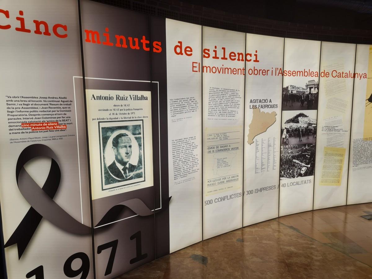 Una exposició a la seu de CCOO recorda la vaga del 1971 i l'obrer Antonio Ruiz.