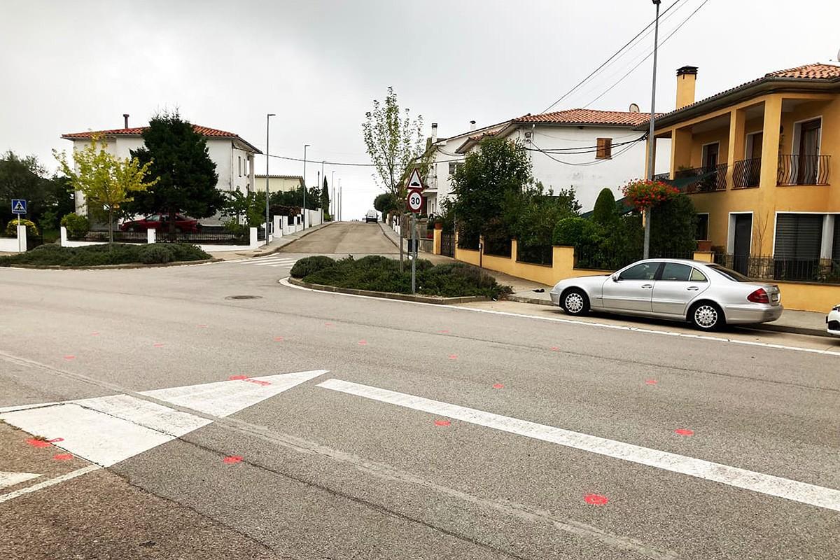 La zona on es farà la nova rotonda a Sant Bartomeu del Grau.