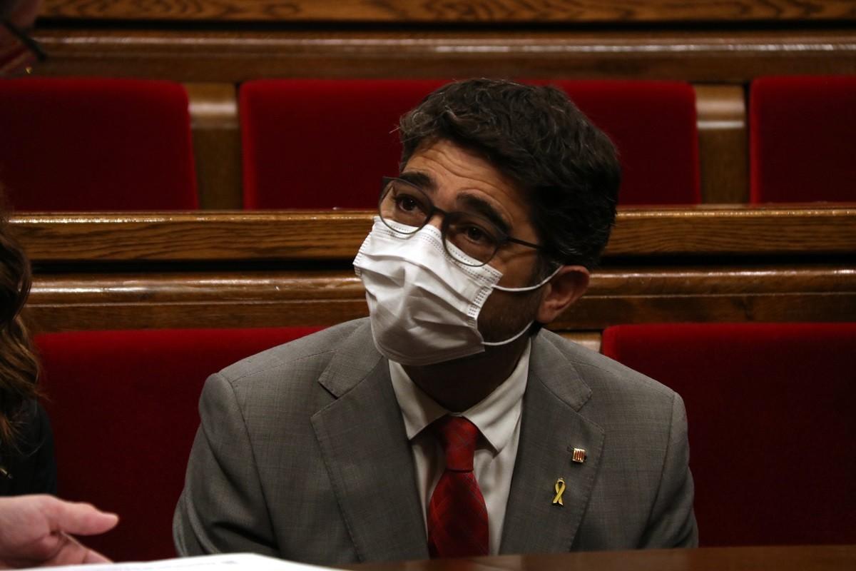 Jordi Puigneró, aquest dimecres al Parlament.