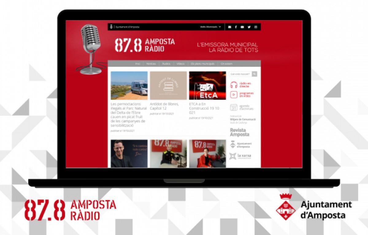 La nova imatge web d'Amposta Ràdio