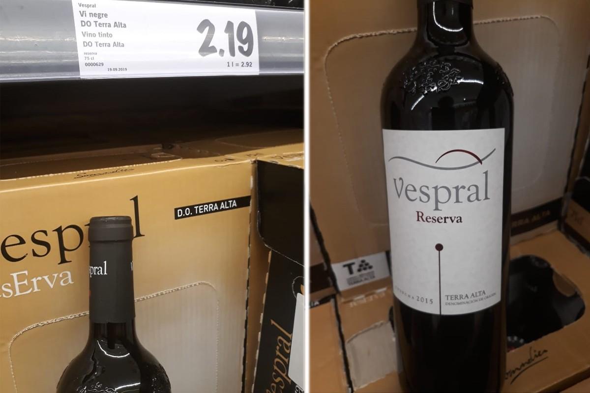 Un dels vins afectats per etiquetatge fraudulent