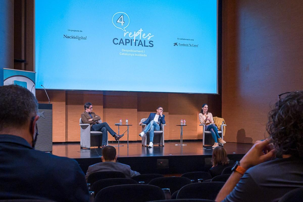 Debat sobre despoblament i Catalunya buidada al CaixaForum Lleida