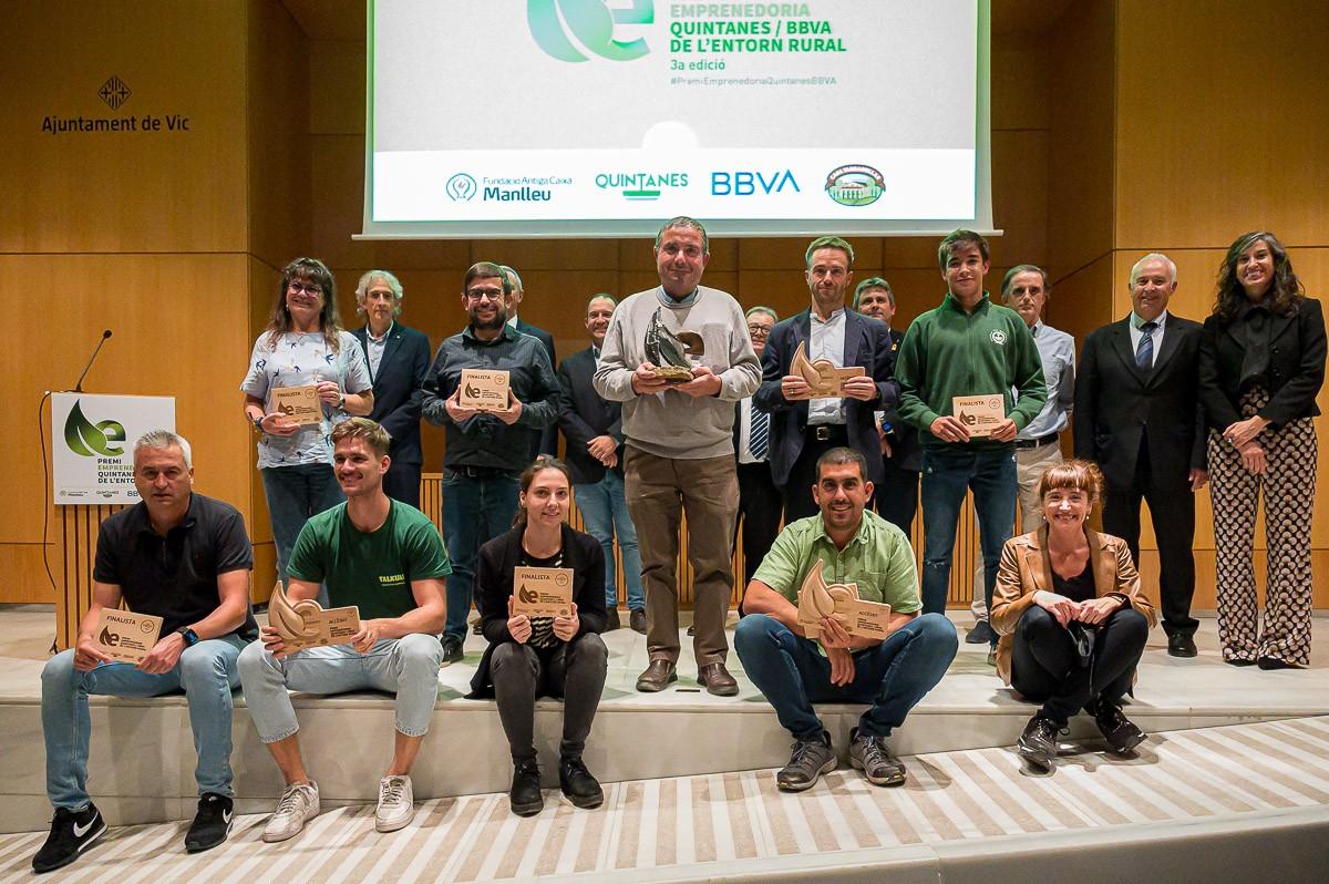 Finalistes i jurat del Premi Emprenedoria Quintanes/BBVA